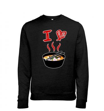 I Love Ramen heather sweatshirt