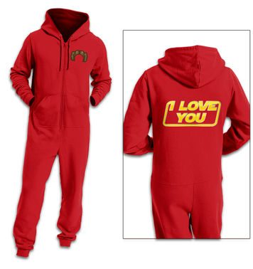 I Love You adult onesie