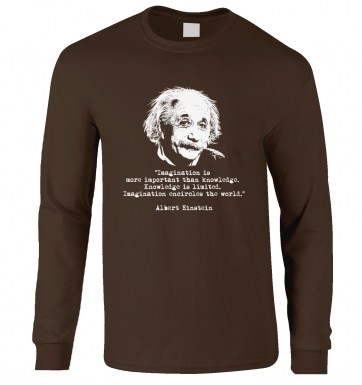 Imagination Quote Einstein long-sleeved t-shirt