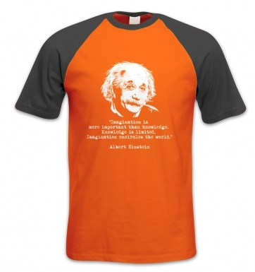 Imagination Quote Einstein short-sleeved baseball t-shirt