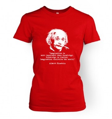 Imagination Quote Einstein women's t-shirt