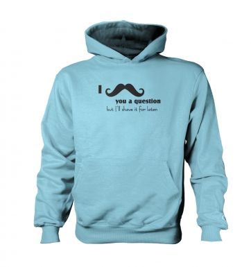 I moustache you a question   kids hoodie (contrast)