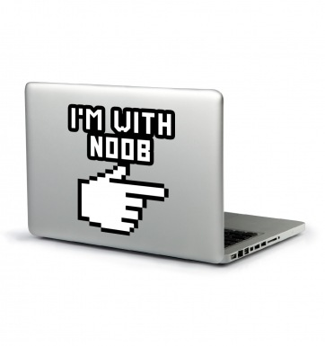 I'm With Noob laptop sticker