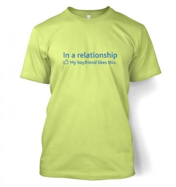 In a Relationship 'BF Likes' Social Status t-shirt