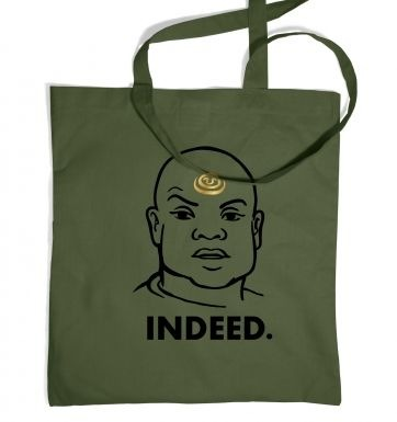 Indeed Teal'c tote bag
