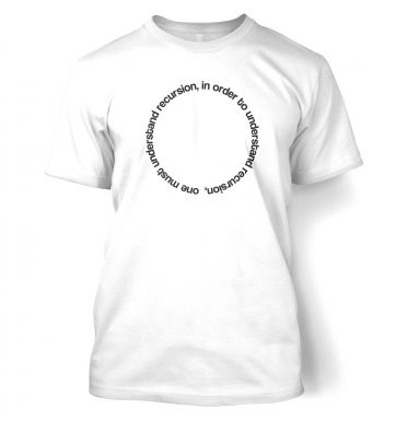 In Order To Understand Recursion t-shirt