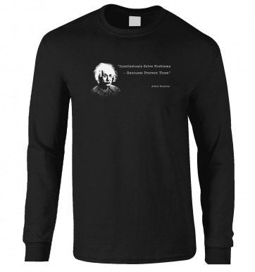 Intellectuals Solve Problems Einstein long-sleeved t-shirt