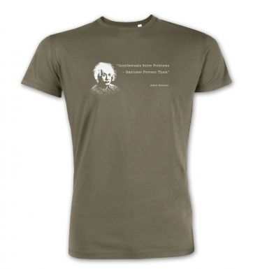Intellectuals Solve Problems Einstein premium t-shirt