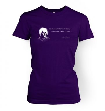 Intellectuals Solve Problems Einstein womens t-shirt