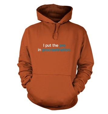 I Put The Pro In Procrastination hoodie