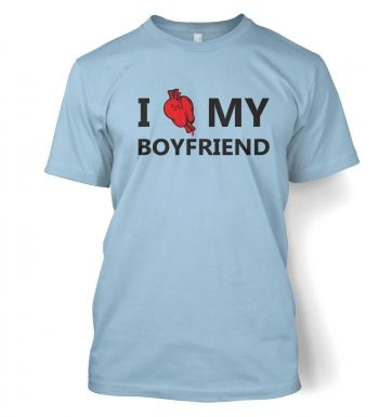 I real heart my boyfriend t-shirt
