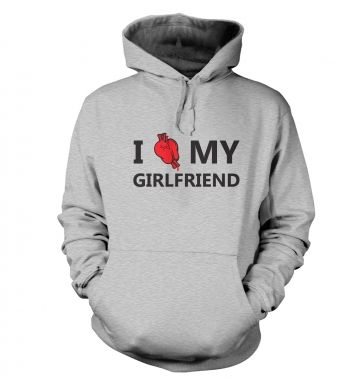 I real heart my girlfriend hoodie