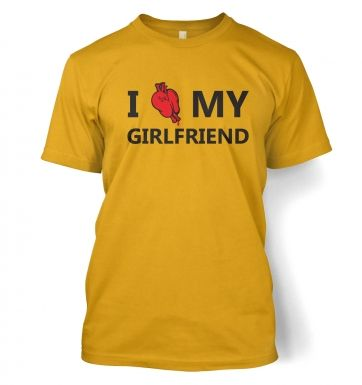 I real heart my girlfriend t-shirt