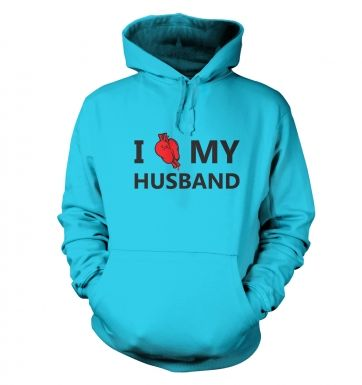 I real heart my husband hoodie
