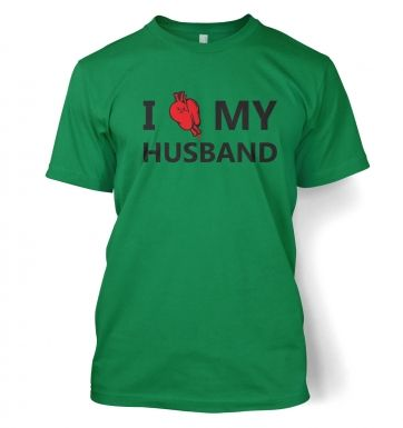 I real heart my husband t-shirt