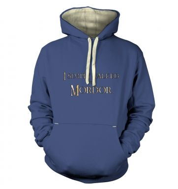 Gold I simply walked into Mordor  hoodie (premium)
