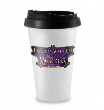 I Simply Walked Into Mordor travel latte mug (purple)