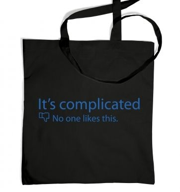 Its Complicated Social Status tote bag