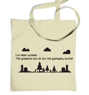 I've Been Outside gaming tote bag