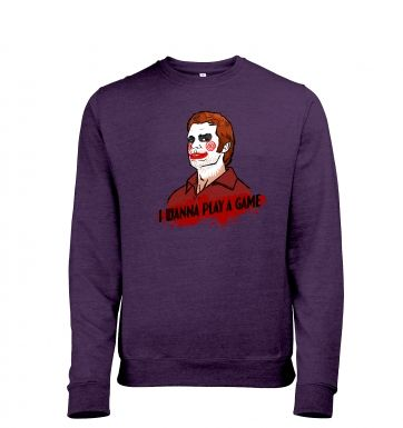 I Wanna Play A Game heather sweatshirt