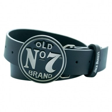 Jack Daniel's belt with circular buckle