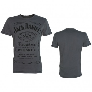 Jack Daniel's t-shirt - black JD logo on grey tee