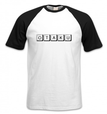 Japanese Otaku short-sleeved baseball t-shirt