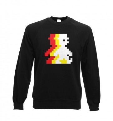 Retro Pixel Guy (trace) sweatshirt