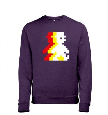 Retro Pixel Guy (trace) heather sweatshirt