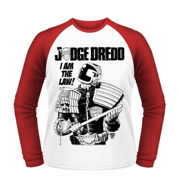 Judge Dredd I Am The Law long sleeved baseball shirt - Official