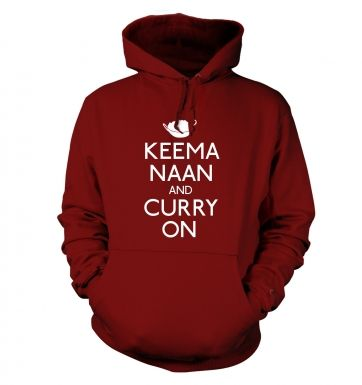 Keema Naan And Curry On Adult Hoodie
