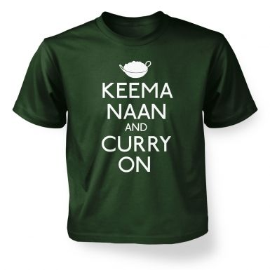 Keema Naan And Curry On Kids' T Shirt