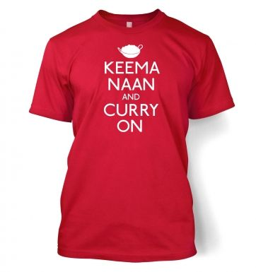 Keema Naan And Curry On Adult T-shirt