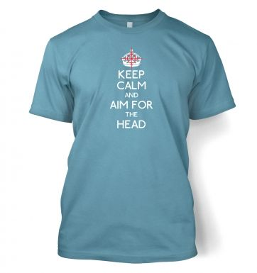 Keep Calm nd Aim For The Head men's t-shirt