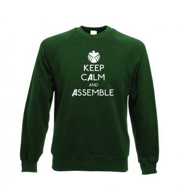 Keep Calm and Assemble Adult Crewneck Sweatshirt Avengers