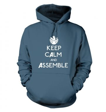 Keep Calm and Assemble Adult Hoodie Avengers