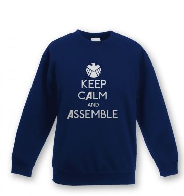 Keep Calm and Assemble Kids Sweatshirt