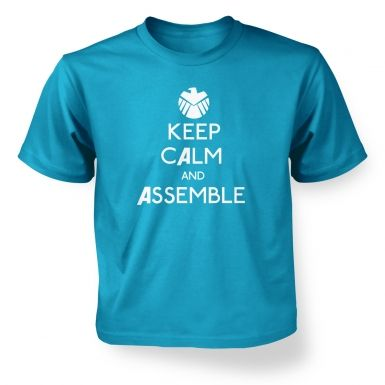 Keep Calm And Assemble kids' t-shirt