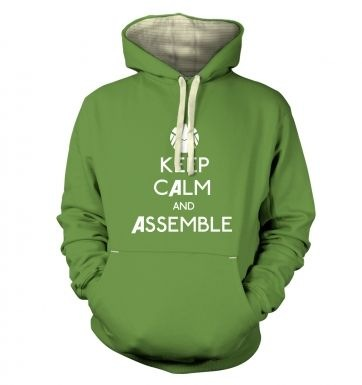 Keep Calm And Assemble premium hoodie