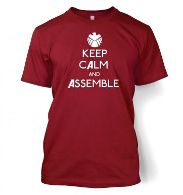 Keep Calm and Assemble Adult T shirt Avengers