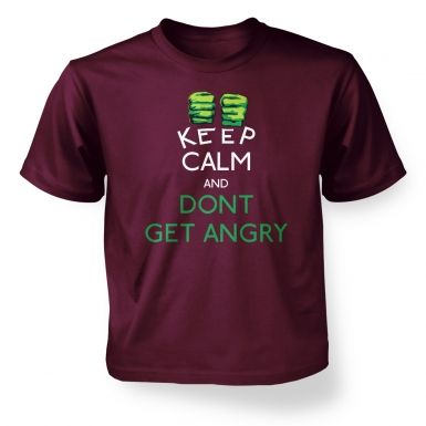 Keep Calm and Dont Get Angry Kids T shirt Hulk Avengers