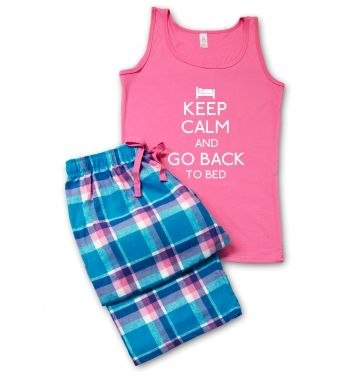 Keep Calm and Go Back to Bed Pyjamas