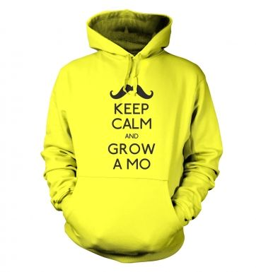 Keep Calm and Grow a Mo Adult Hoodie