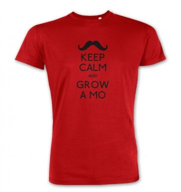 Keep Calm and Grow a Mo  premium t-shirt