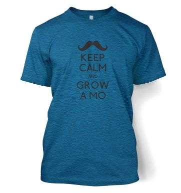 Keep Calm and Grow a Mo Men's t-shirt