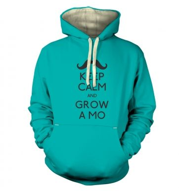 Keep Calm and Grow a Mo Premium Hoodie