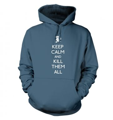 Keep Calm And Kill Them Adult Hoodie