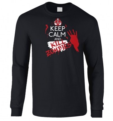 Keep Calm And Kill Zombies long-sleeved t-shirt