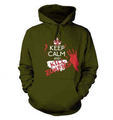 Keep Calm And Kill Zombies adult's hoodie