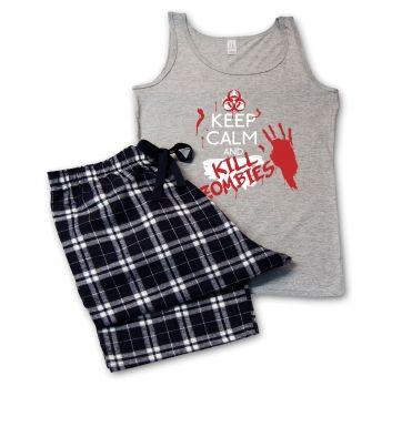 Keep Calm And Kill Zombies pyjamas (womens)